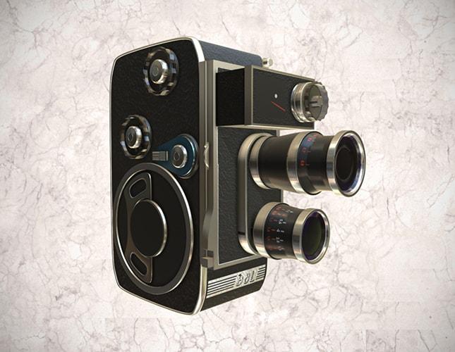 Cámara cinematográfica Paillard Bolex BL8, 8mm