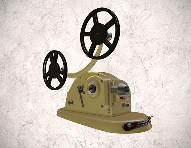 Proyector Gem Pathescope de 9.5 mm
